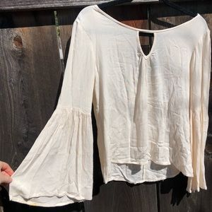 Tops - White Bell Sleeve Festival Top Size Small